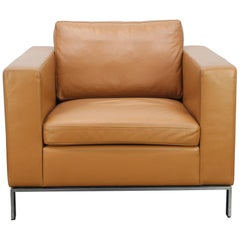 "Walter Knoll ""Foster 503.10"" Armchair in Tan-Brown Leather by Sir Norman Foster"
