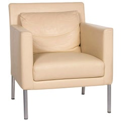 Walter Knoll Jason Leather Armchair Cream