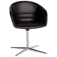Walter Knoll Kyo Leather Armchair Black Chair Swivel