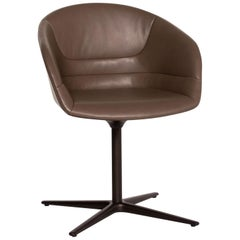 Walter Knoll Kyo Leather Armchair Gray Chair Swivel