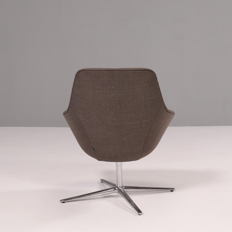 Contemporary Walter Knoll 'Kyo' Upholstered Lounge Chairs by PearsonLloyd, Set of 2 For Sale