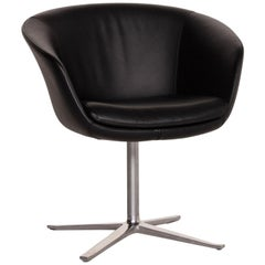 Walter Knoll Leather Armchair Black Chair