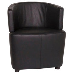 Walter Knoll Leather Armchair Black