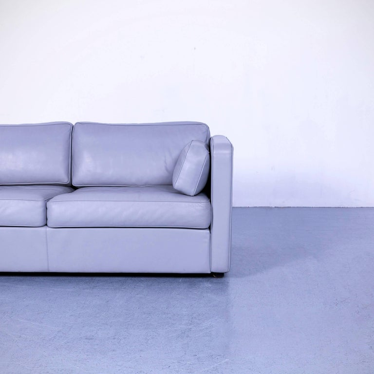 Walter Knoll Leather Sofa Grey Two-Seat Couch In Good Condition For Sale In Cologne, DE