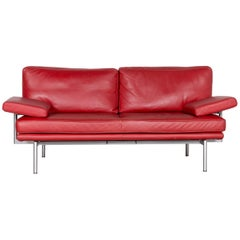 Walter Knoll Living Platform Designer Leather Couch Red by EOOS Design