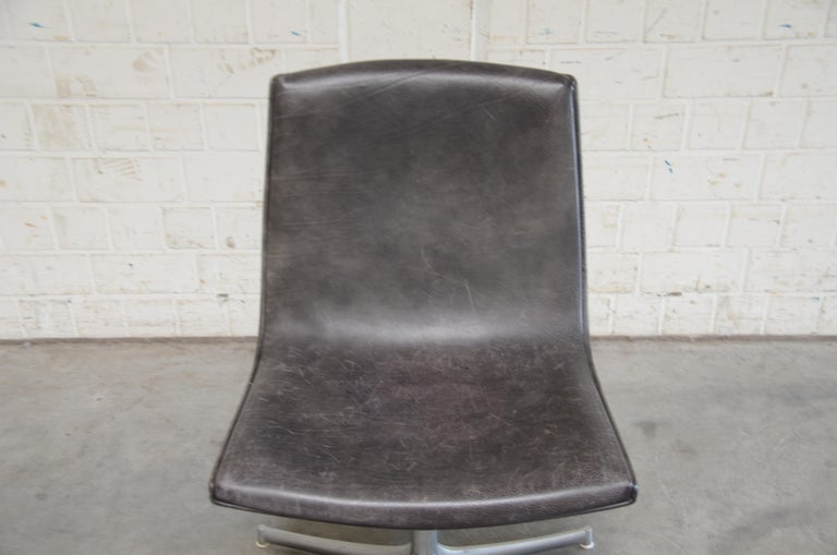 Walter Knoll Logos Neckleather Chair Bernd Münzebrock In Good Condition For Sale In Munich, Bavaria