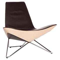 Walter Knoll MYchair Leather Armchair Brown Dark Brown Cream