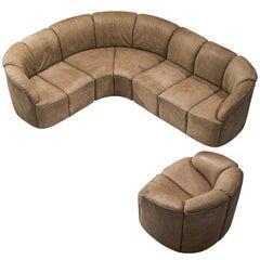 Walter Knoll 'Piccolino' Lounge Set in Original Leather