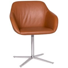 Walter Knoll Turtle Leather Armchair Brown Chair