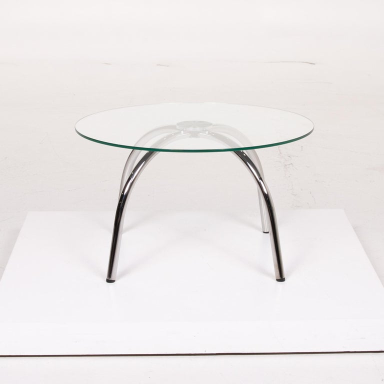 Walter Knoll Vostra Glass Table Silver Coffee Table Metal For Sale At 1stdibs