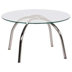Walter Knoll Vostra Glass Table Silver Coffee Table Metal