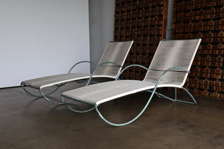 Mid-Century Modern Walter Lamb Chaise Lounges Model C-4700, circa 1960 For Sale