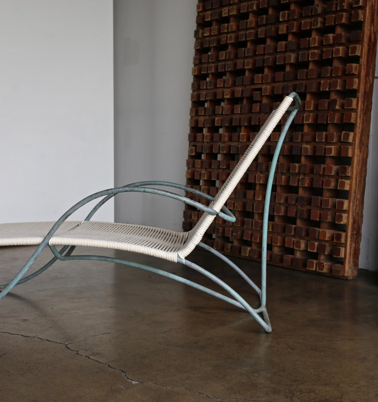 Patinated Walter Lamb Chaise Lounges Model C-4700, circa 1960 For Sale