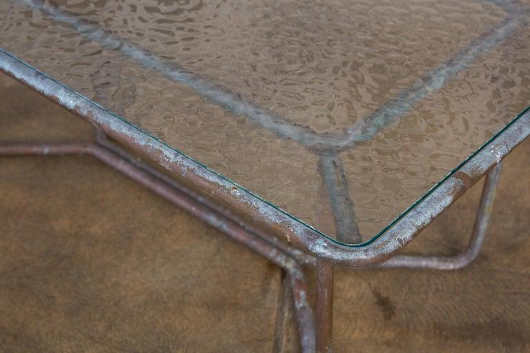 Walter Lamb for Brown Jordan Bronze Patio Coffee Table For Sale 5