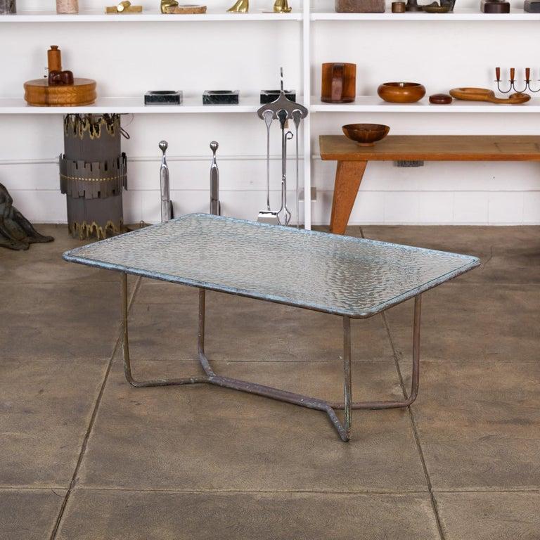 Mid-Century Modern Walter Lamb for Brown Jordan Bronze Patio Coffee Table For Sale