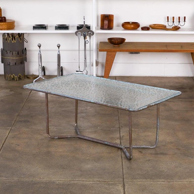 American Walter Lamb for Brown Jordan Bronze Patio Coffee Table For Sale