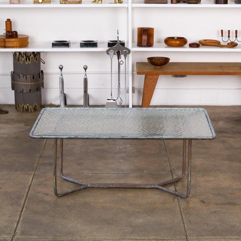 Walter Lamb for Brown Jordan Bronze Patio Coffee Table For Sale 1