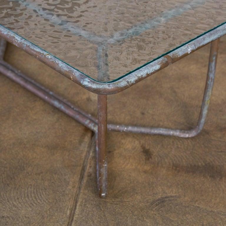 Walter Lamb for Brown Jordan Bronze Patio Coffee Table For Sale 2