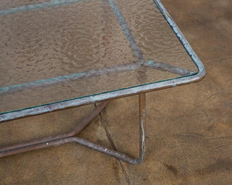 Walter Lamb for Brown Jordan Bronze Patio Coffee Table For Sale 3