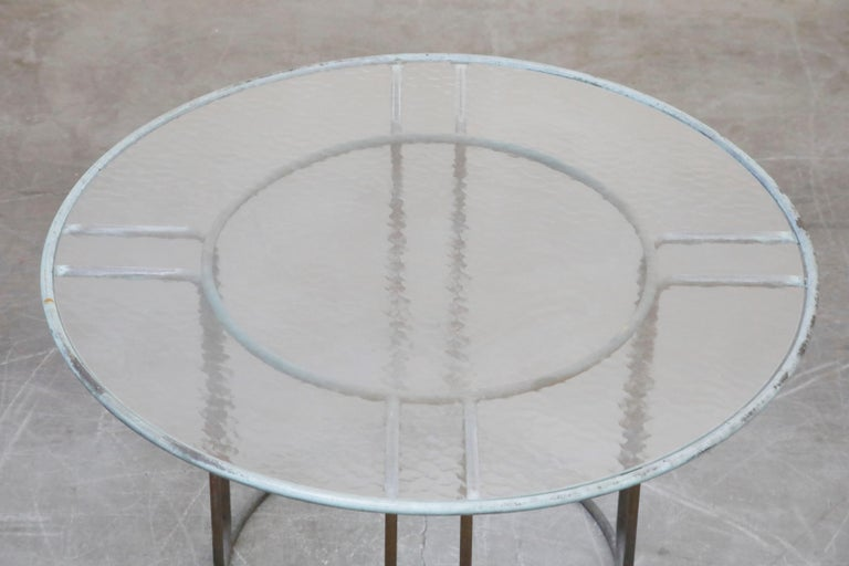 Walter Lamb for Brown Jordan Bronze Patio Dining Set with New Cording, 1960s For Sale 7