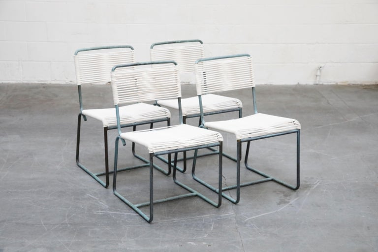 Walter Lamb for Brown Jordan Bronze Patio Dining Set with New Cording, 1960s For Sale 10