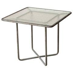 Walter Lamb for Brown Jordan Bronze Patio Square Side Table
