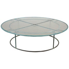 Walter Lamb Large Round Coffee Table for Brown Jordan