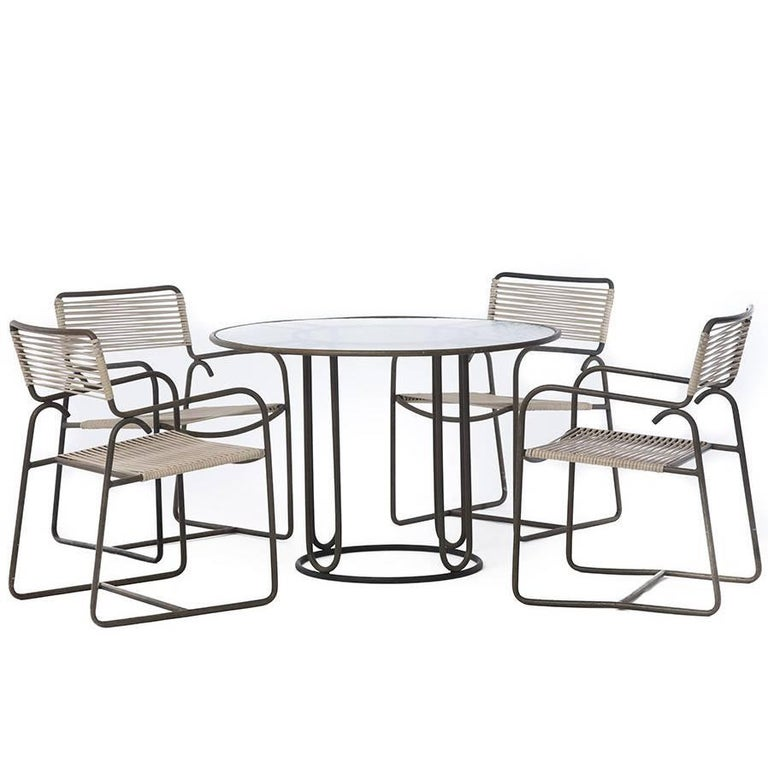 Walter Lamb Mid-Century Modern Patio Set For Sale