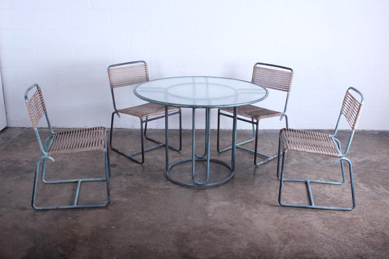 Walter Lamb Outdoor Dining Set For Sale 5