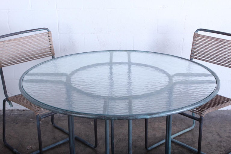 Walter Lamb Outdoor Dining Set For Sale 6