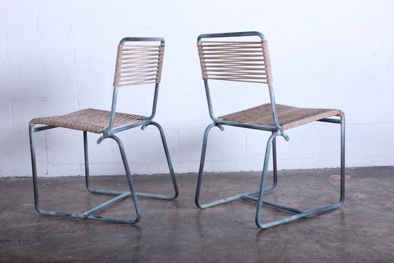 Mid-20th Century Walter Lamb Outdoor Dining Set For Sale
