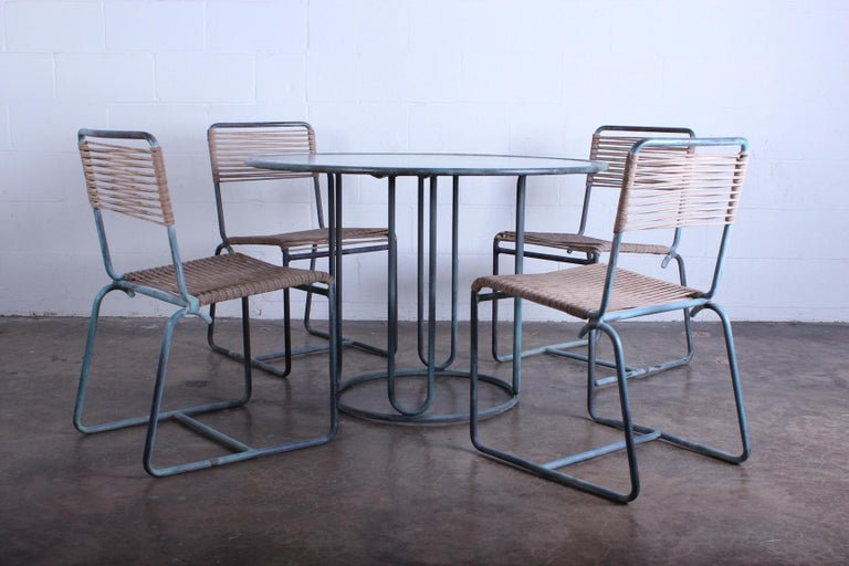Walter Lamb Outdoor Dining Set For Sale 4