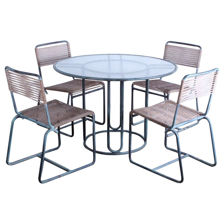 Walter Lamb Outdoor Dining Set For Sale