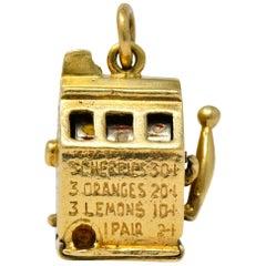 Walter Lampl Articulated Art Deco 14 Karat Gold Slot Machine Charm