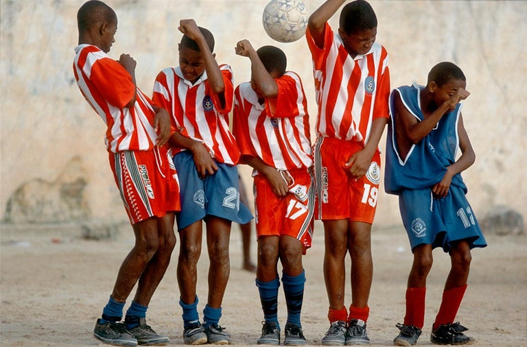 Walter Iooss Color Photograph - Soccer, Brazil, 2001