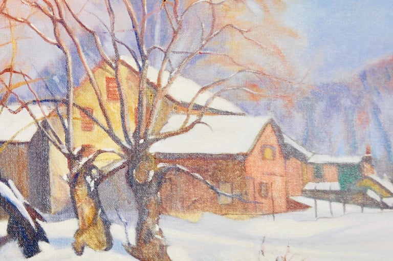 Walter Mattern Quot Winters First Snow Quot Oil On Canvas For Sale