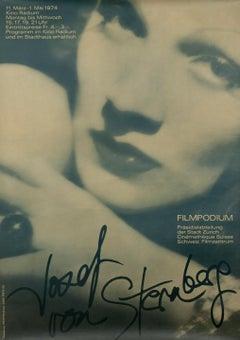 """Josef von Sternberg - Filmpodium"" Original Vintage Film Festival Poster"