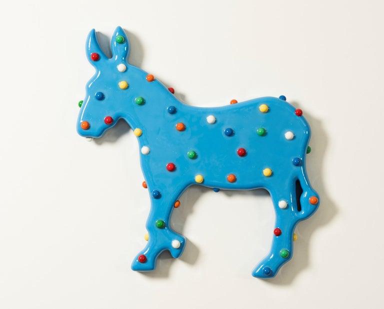Walter Robinson Still-Life Sculpture - Animal Cracker (Blue Donkey)