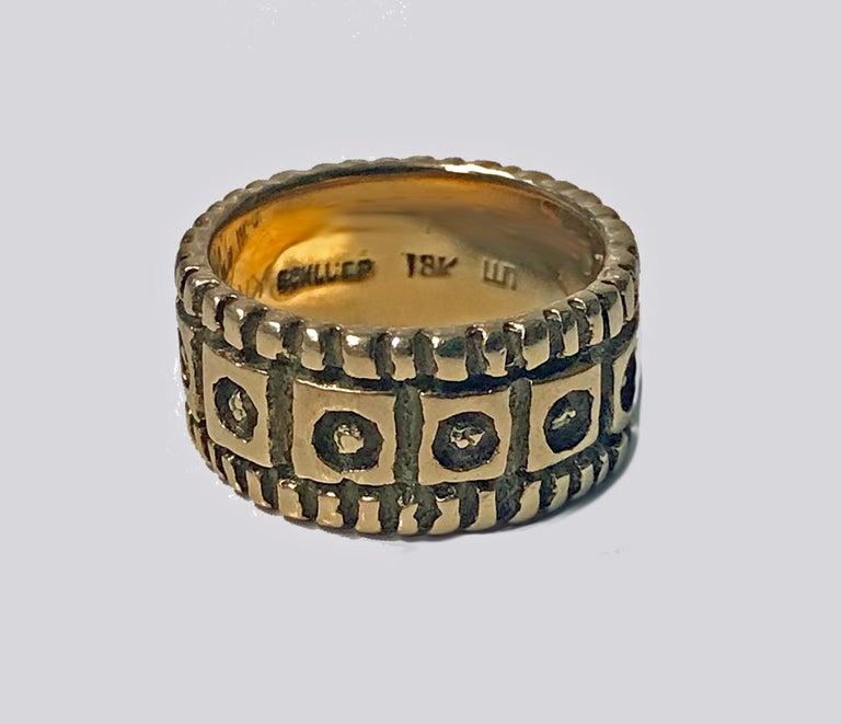 Walter Schluep 18 Karat Ring, circa 1960 For Sale 1