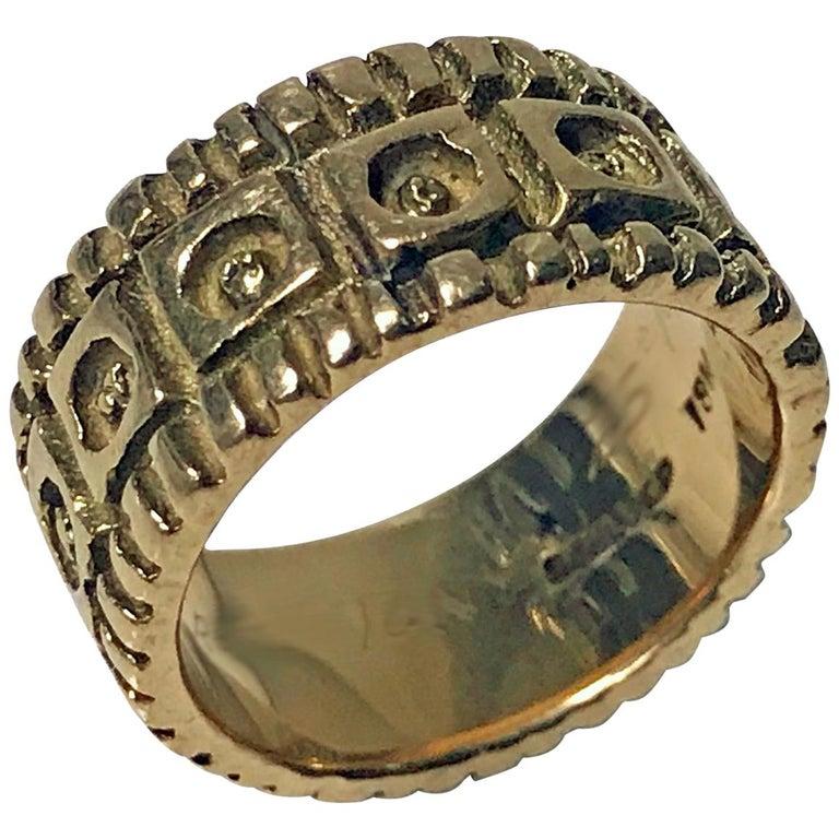 Walter Schluep 18 Karat Ring, circa 1960 For Sale