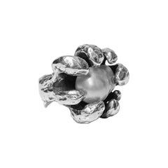Walter Schluep Sterling Silver Pearl Ring