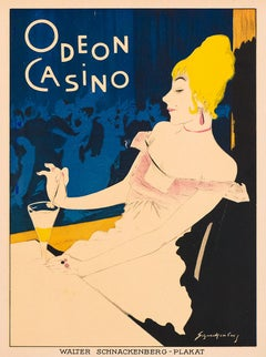 Odeon Casino by Walter Schnackenberg, German cabaret lithograph, 1920