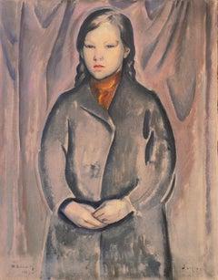 'Young Woman Wearing a Copper Scarf', Copenhagen, Skagen