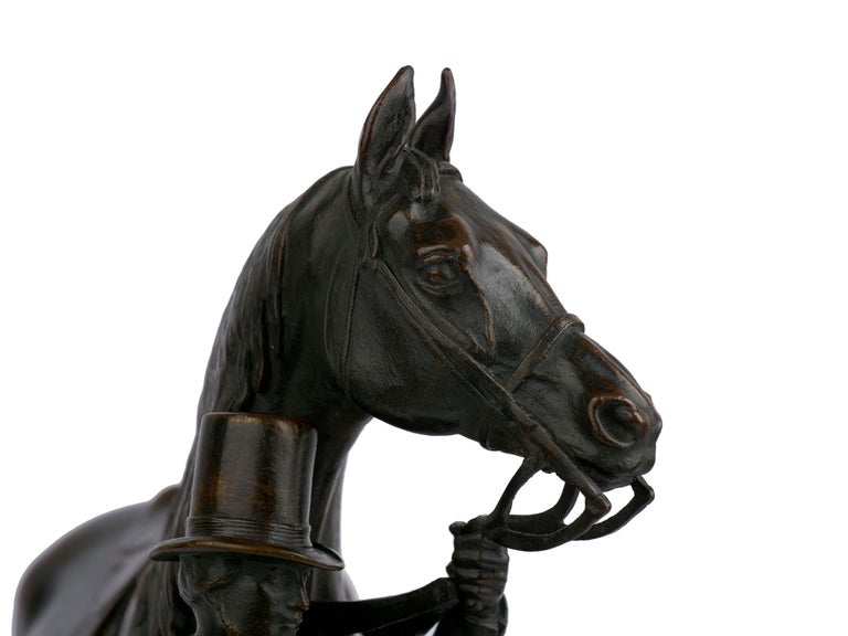 """""""Walter Scott"""" Bronze Sculpture of Racehorse by Alfred Barye, French For Sale 9"""
