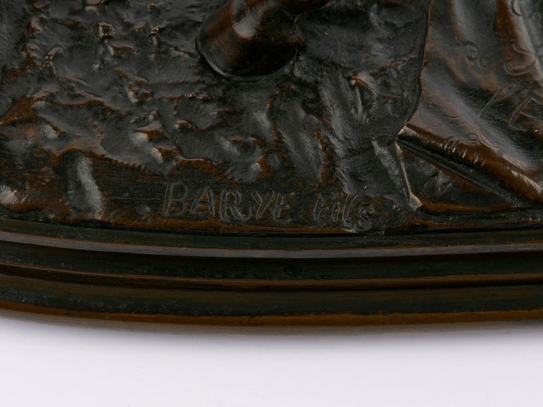 """""""Walter Scott"""" Bronze Sculpture of Racehorse by Alfred Barye, French For Sale 16"""