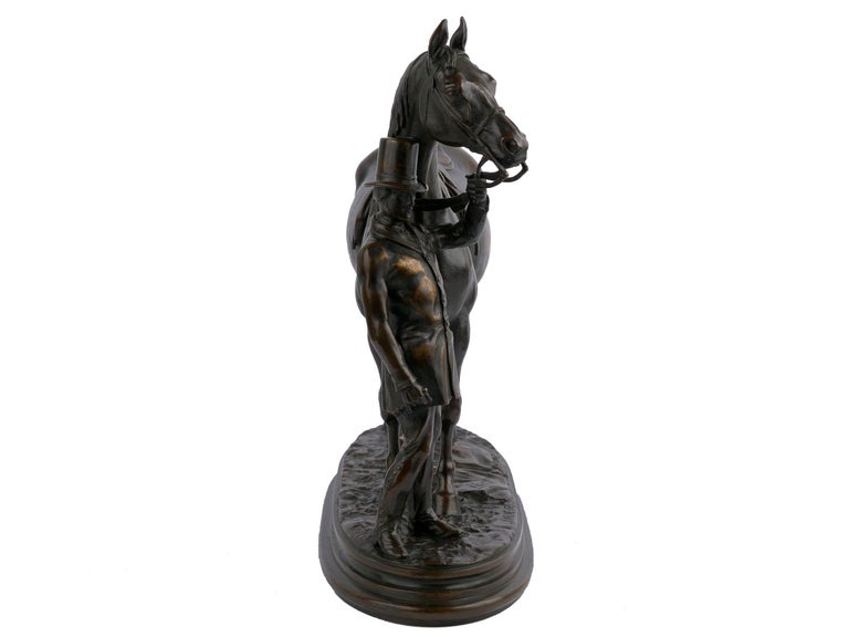 """""""Walter Scott"""" Bronze Sculpture of Racehorse by Alfred Barye, French In Good Condition For Sale In Shippensburg, PA"""