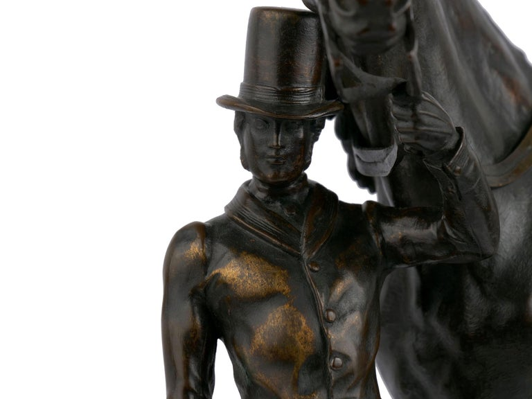 """""""Walter Scott"""" Bronze Sculpture of Racehorse by Alfred Barye, French For Sale 3"""