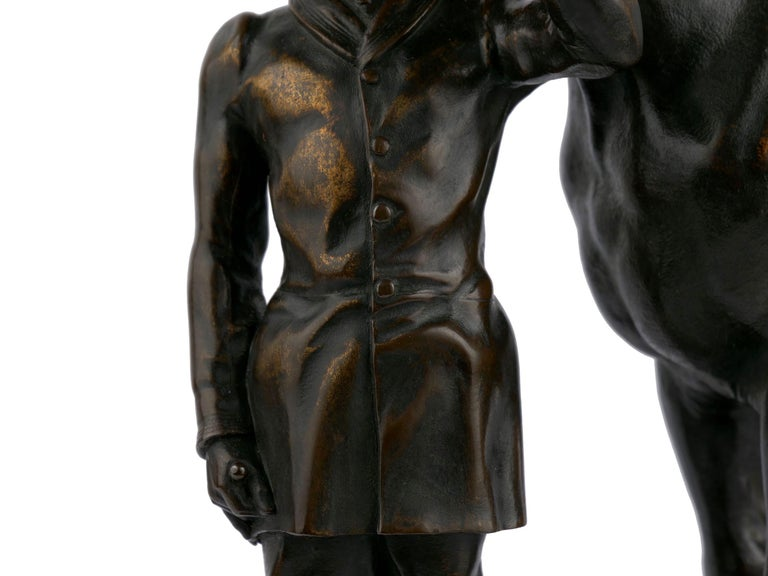"""""""Walter Scott"""" Bronze Sculpture of Racehorse by Alfred Barye, French For Sale 4"""