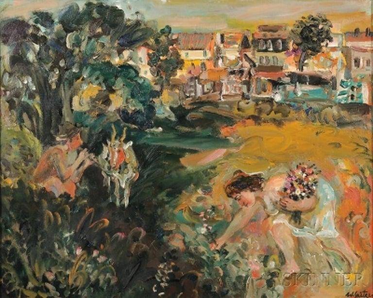 Walter Spitzer Landscape Painting -  Bucoliques, 1966