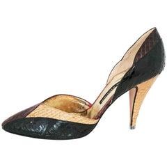 Walter Steiger Python Tricolor Heels. Size 39 1/2 (EU)